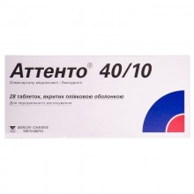 Buy Attento Other 40 mg + 10 mg, 28 tabssummer