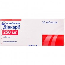 Buy Diacarb Tablets 250 mg, 30 tablets