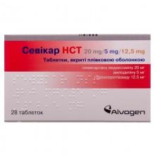 Buy Sevikar tablets 20 mg/5 mg/12.5 mg, 28 pcs