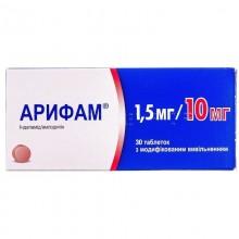 Buy Arifam Tablets 1.5 mg + 10 mg, 30 tablets