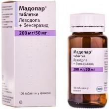 Buy Madopar Tablets 200 mg + 50 mg, 100 tablets