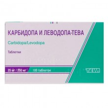 Buy Carbidopa and levodopa Tablets 25 mg/250 mg, 100 tablets