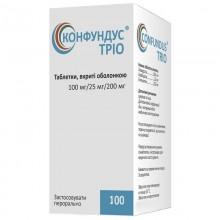 Buy Confundus Trio Tablets 100 mg/25 mg/200 mg, 100 pcs