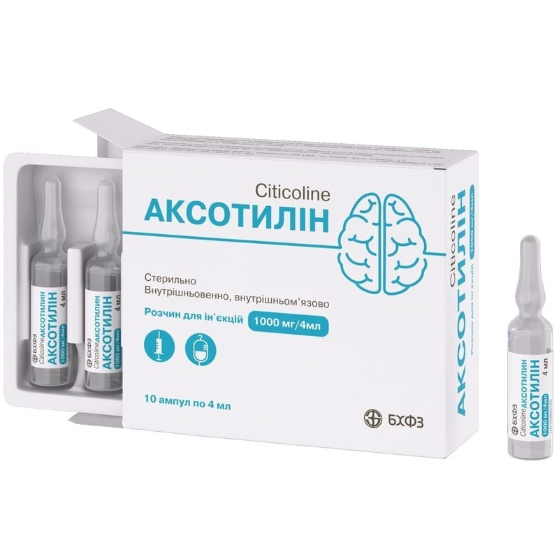 Buy Axotilin ampoules 250 mg/ml, 10 ampoules of 4 ml