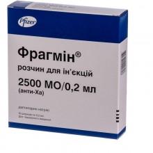 Buy Fragmin Syringe 2500 IU/0.2 ml, 10 syringes of 0.2 ml