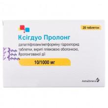 Buy Xigduo Tablets 10 mg + 1000 mg, 28 tablets