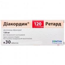 Buy Diacordin Tablets 120 mg, 30 tablets
