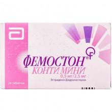 Buy Femoston Tablets 2.5 mg + 0.5 mg, 28 tablets