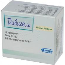 Buy Divigel Gel 1 mg/g, 28 sachets of 1 g