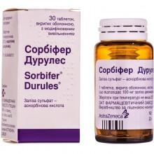 Buy Sorbifer durules Tablets 320 mg + 60 mg, 30 tablets