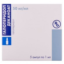 Buy Haloperidol ampoules 50 mg/ml, 5 ampoules of 1 ml