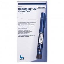 Buy NovoMix flexpen Bottle 100 IU/ml, 5 3 ml syringe pens (thermolabile)