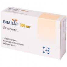 Buy Vimpat Tablets 100 mg, 14 tablets