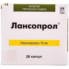 Buy Lansoprol Capsules 15 mg, 28 capsules