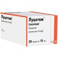 Buy Lucetam ampoules 200 mg/ml, 20 ampoules of 5 ml each
