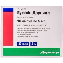 Buy Eufillin ampoules 20 mg/ml, 10 ampoules of 5 ml